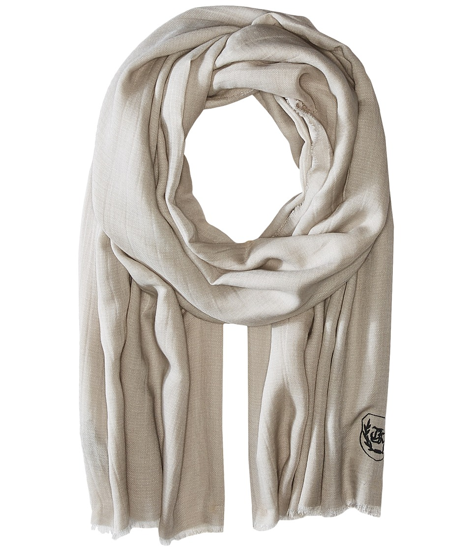 The Kooples Cotton Crest Scarf Beige Scarves