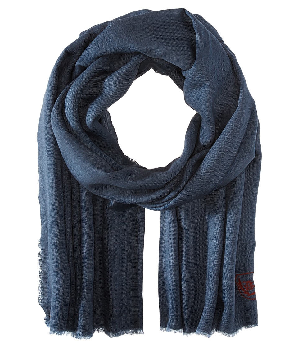 The Kooples Cotton Crest Scarf Grey Scarves
