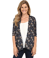 Stetson - Aztec Tapestry Print Short Sleeve Knit Cardigan