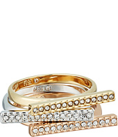 Rebecca Minkoff - Tri-Color Bar Stackable Rings