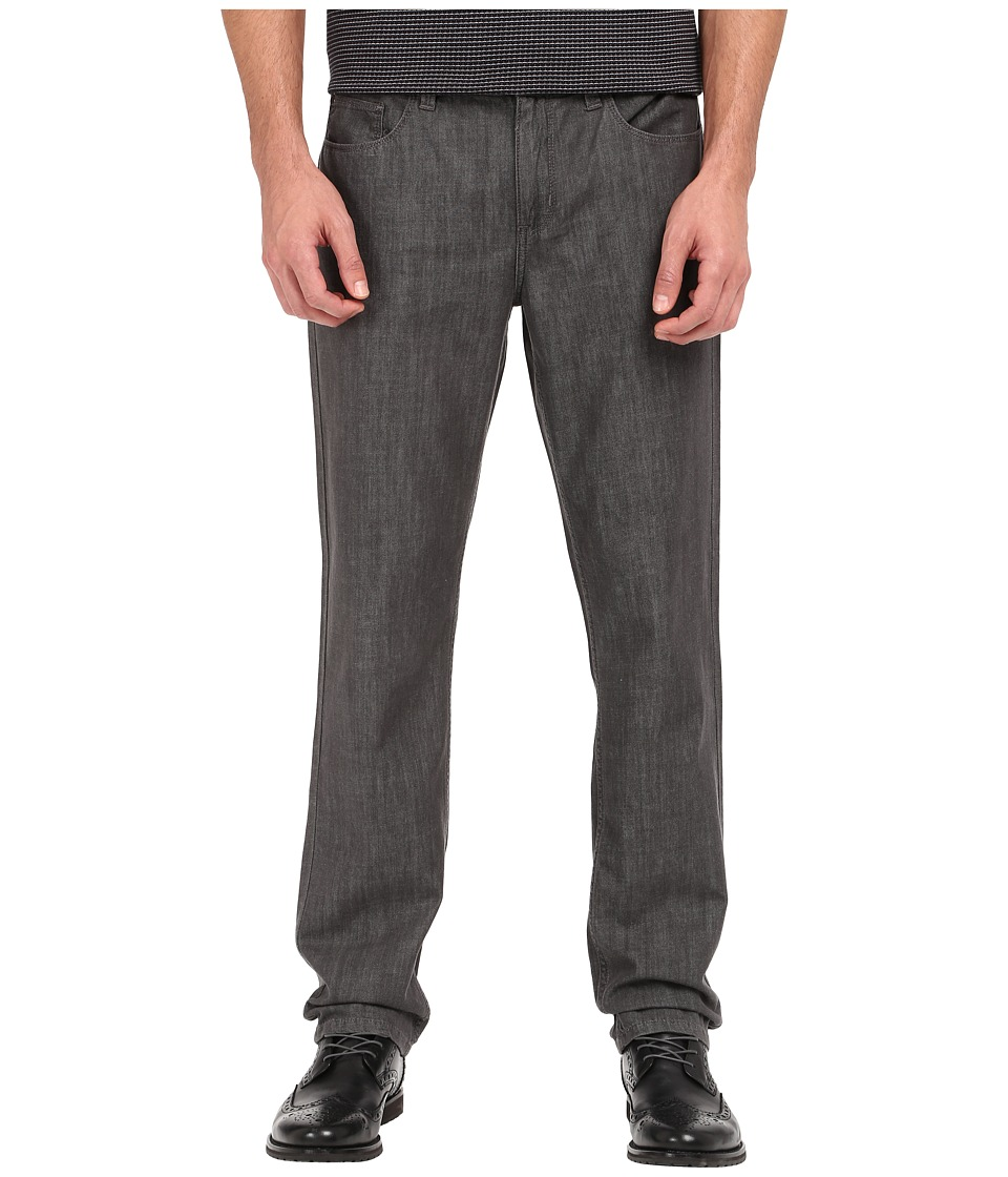 Perry Ellis Slim Fit Five Pocket Denim in Light Grey Light Grey Mens Jeans