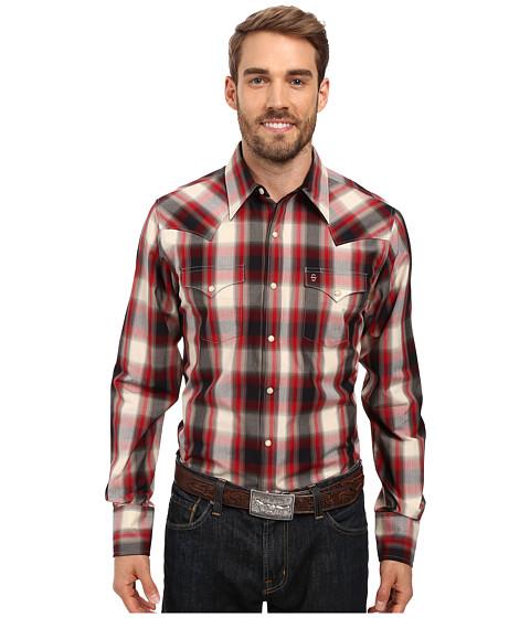 Stetson Ranch Plaid Dobby Long Sleeve Woven Snap Shirt
