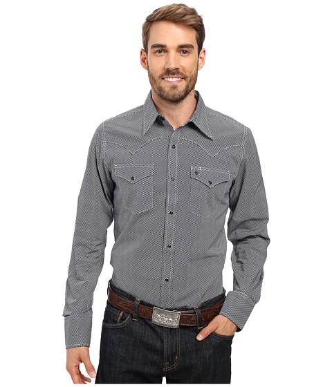 Stetson Oval Neat Long Sleeve Woven Snap Shirt