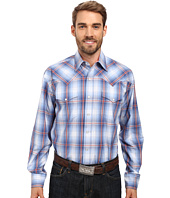 Stetson - Smokey Blue Ombre Long Sleeve Woven Snap Shirt