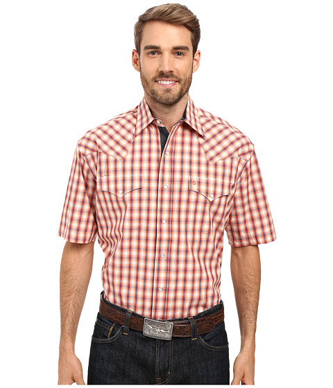 Stetson Spectral Check Short Sleeve Woven Snap Shirt