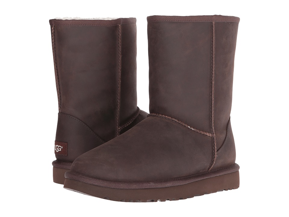UGG Classic Short Leather (Brownstone 2) Women