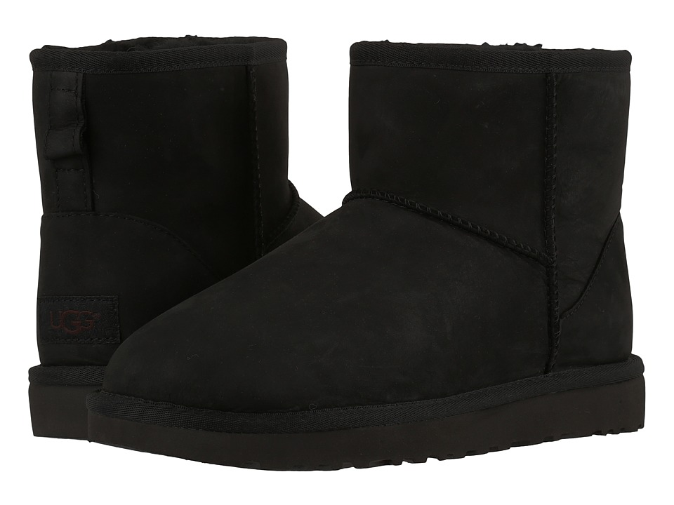 UGG - Classic Mini Leather (Black 2) Women