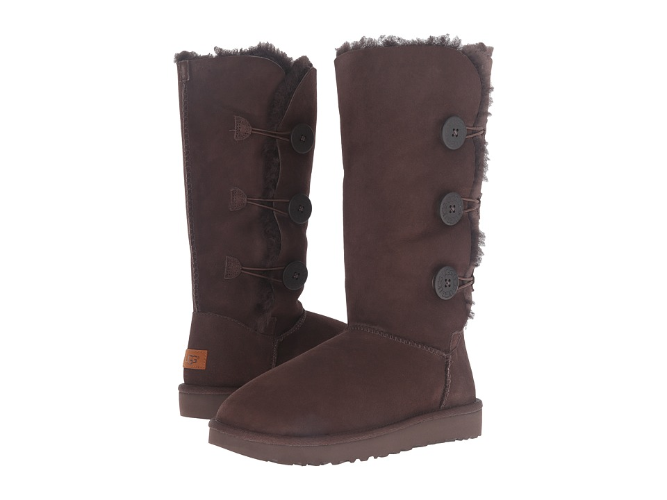 Ugg Bailey Button Triplet II (Chocolate) Women's Boots