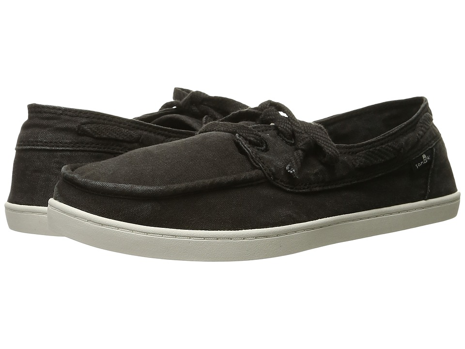 Sanuk - Pair O Sail (Washed Black) Women