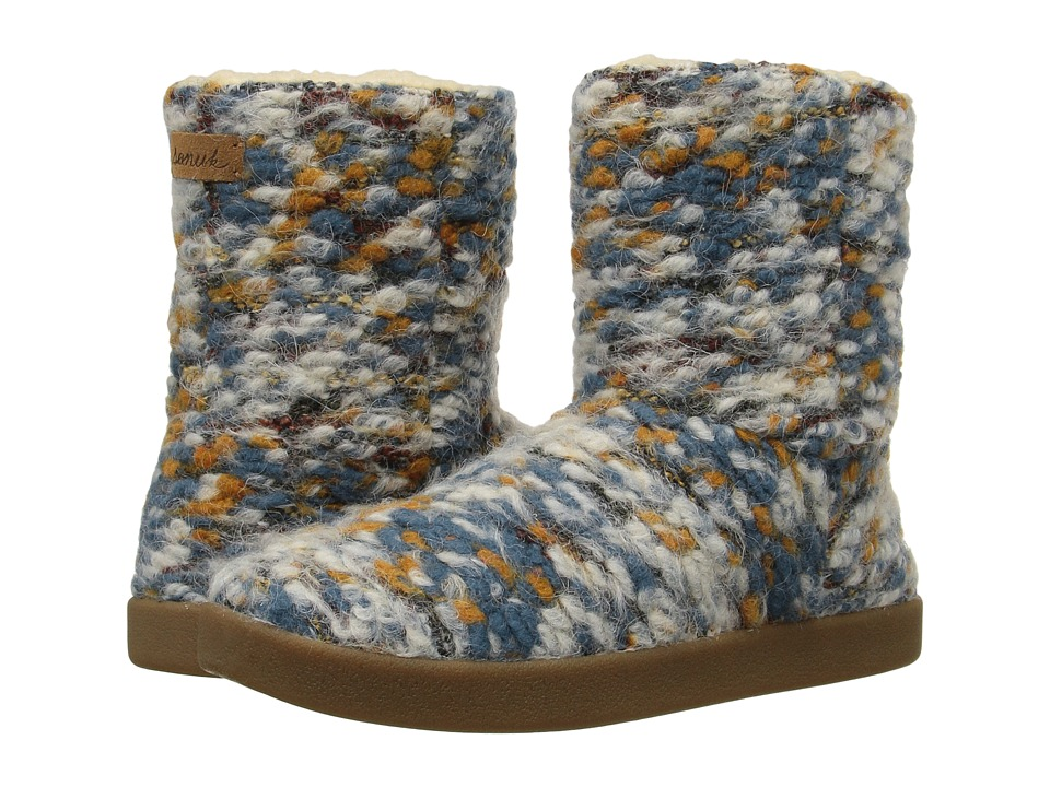 Sanuk Toasty Tails Short (Dusty Teal Speckle) Women