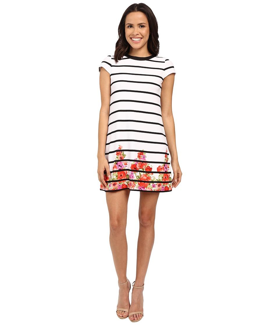 Jessica Simpson Printed Textured Knit Dress JS6D8490 Print Womens Dress
