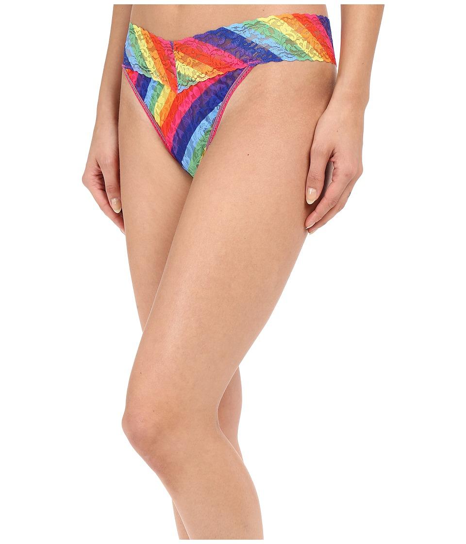 Hanky Panky Rainbow Stripe Original Rise Thong Multi Womens Underwear