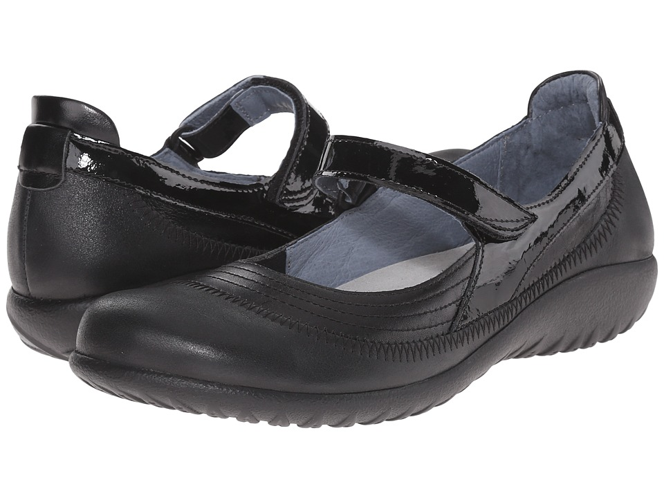 Naot Footwear Kirei (Black Leather Combo) Maryjane Shoes