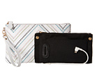 Mighty Purse Cow Leather Charging Wristlet (Tribal White)