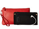 Mighty Purse Cow Leather Charging Wristlet (Coral)