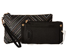 Mighty Purse Cow Leather Charging Wristlet (Tribal Black)