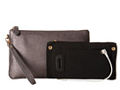 Mighty Purse Cow Leather Charging Wristlet (Charcoal Sparkle)
