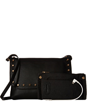 Mighty Purse - Vegan Leather Charging Flap X-Body Bag