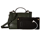 Mighty Purse Vegan Leather Charging Nolita X-Body Bag (Green)