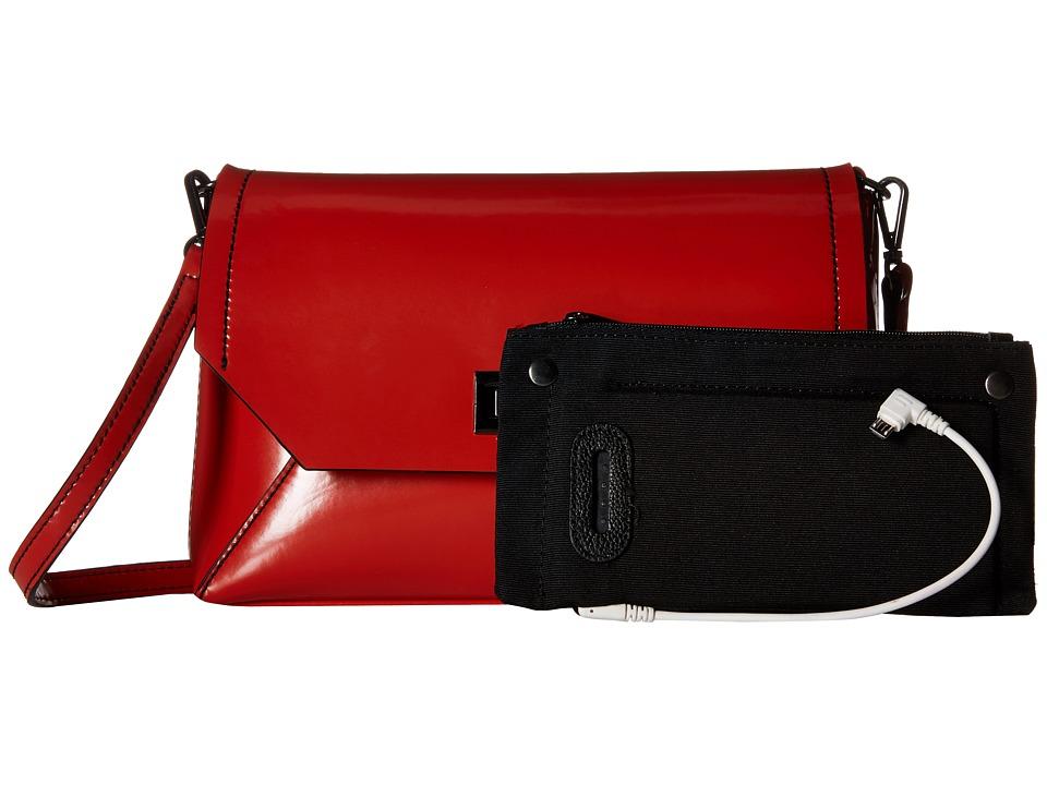 Mighty Purse Micro Fibre Charging Mila X Body Bag Burnt Orange Cross Body Handbags