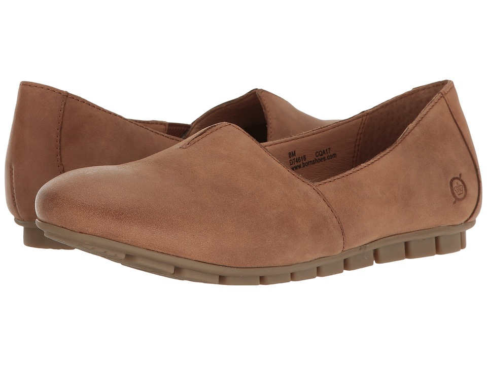 Born - Sebra (Biscotto Full Grain Leather) Womens Slip on  Shoes