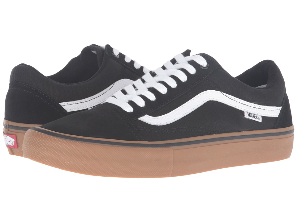 Vans - Old Skool Pro (Black/Gum/White) Men