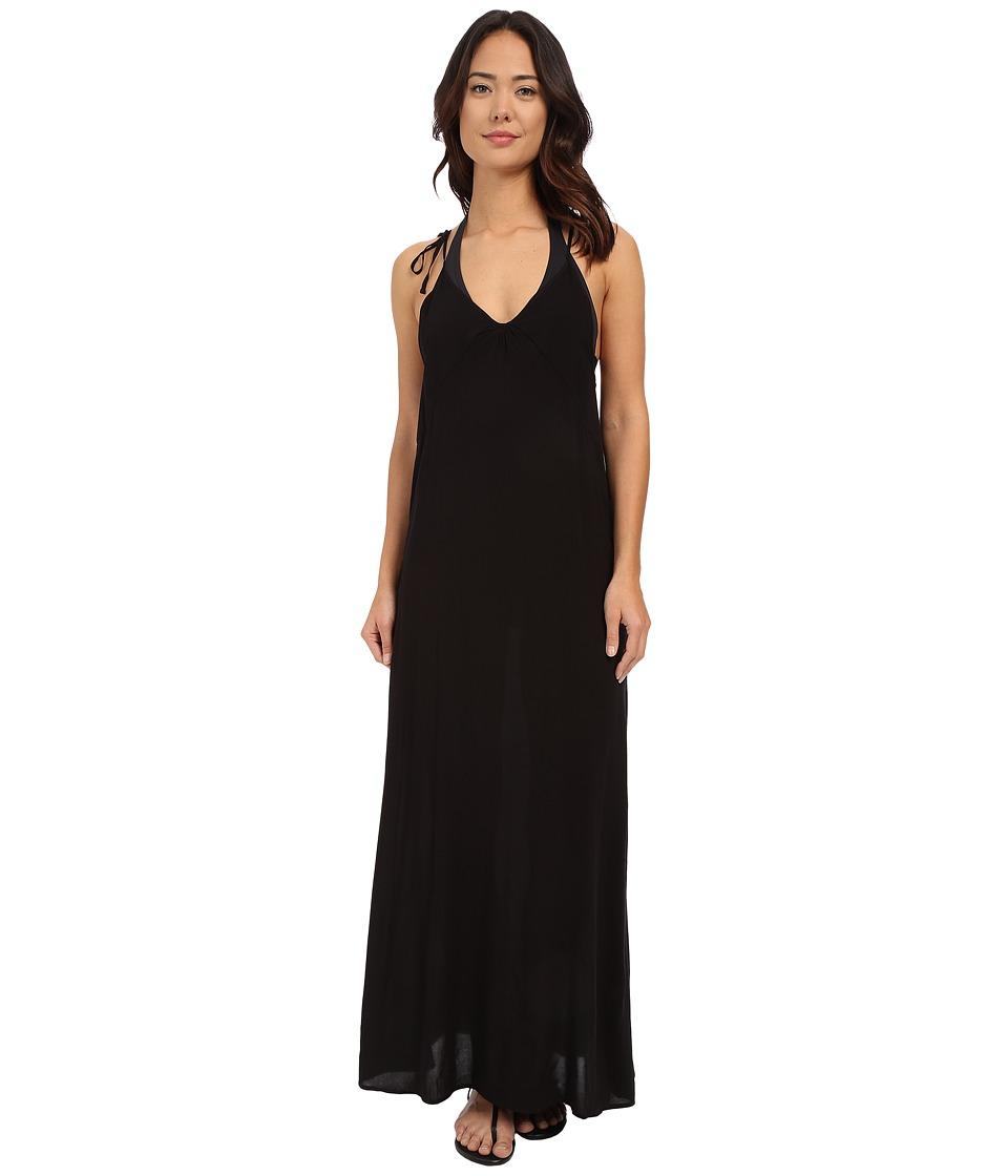 Echo Design Solid Carol Maxi Dress Black Womens Dress