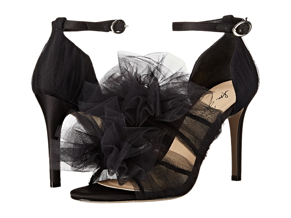 Isa Tapia Gigi Black Tulle Womens Shoes