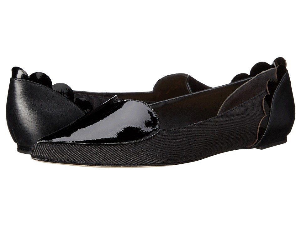 Isa Tapia Clement Black Peau de Soie/Patent Womens Shoes