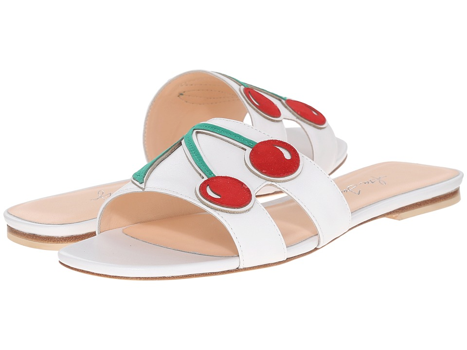 Isa Tapia Mya White Nappa/Cherry Womens Shoes