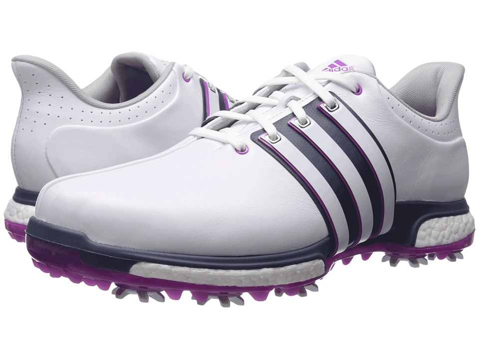 adidas Golf Tour 360 Boost (Ftwr White/Flash Pink/Mineral Blue) Men