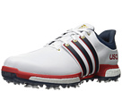 adidas Golf Tour 360 Boost (Ftwr White/Mineral Blue/Scarlet)
