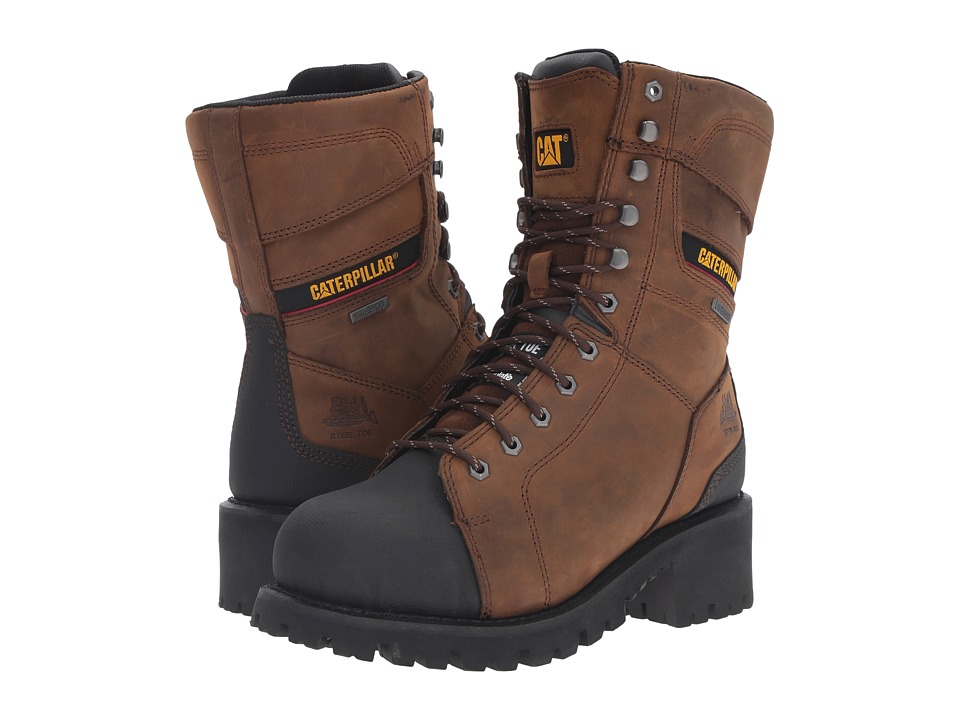 Caterpillar - Casebolt Waterproof TX Steel Toe (Dark Brown) Men