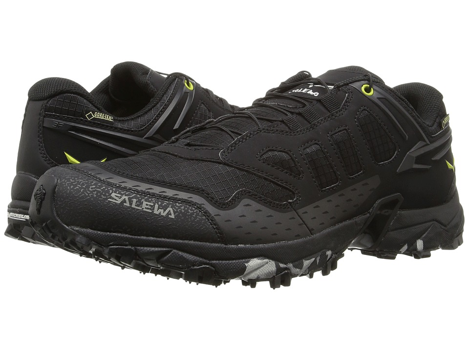Salewa Ultra Train GTX (Black/Swing Green) Men's Shoes