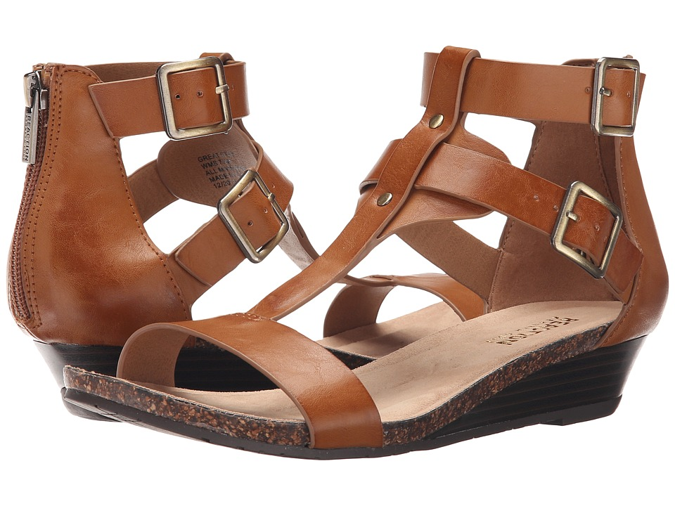 Kenneth Cole Reaction Great Step Toffee Womens Wedge Shoes