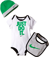 Nike Kids - Three-Piece Creeper Hat Bib Set (Infant)