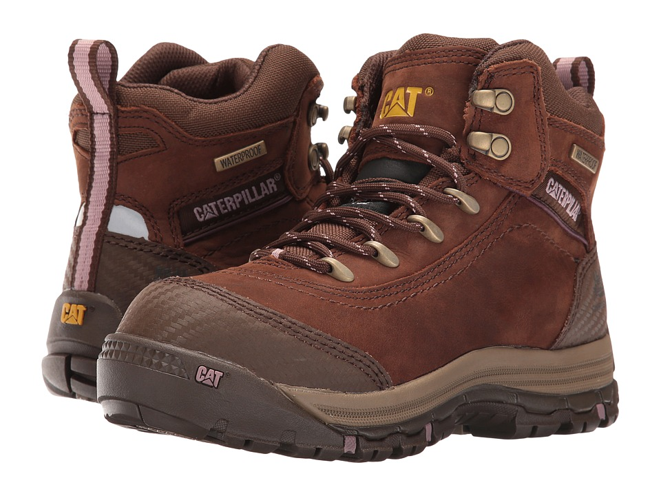 Caterpillar Ally 6 Waterproof Composite Toe (Brown) Women...