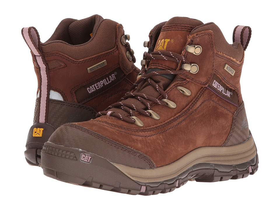 Caterpillar Ally 6 Waterproof (Brown) Women's Work Lace-up Boots