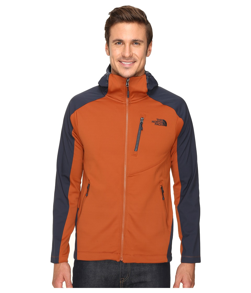 The North Face - Tenacious Hybrid Hoodie (Gingerbread Brown/Urban Navy) Men