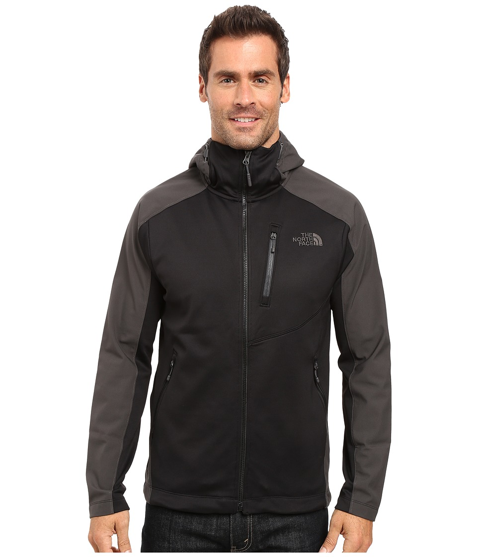 The North Face - Tenacious Hybrid Hoodie (TNF Black/Asphalt Grey) Men