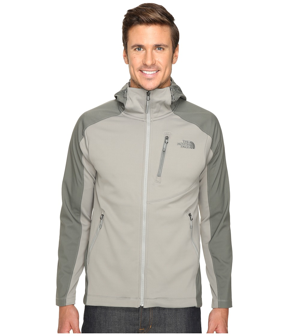 The North Face - Tenacious Hybrid Hoodie (Moon Mist Grey/Fusebox Grey) Men