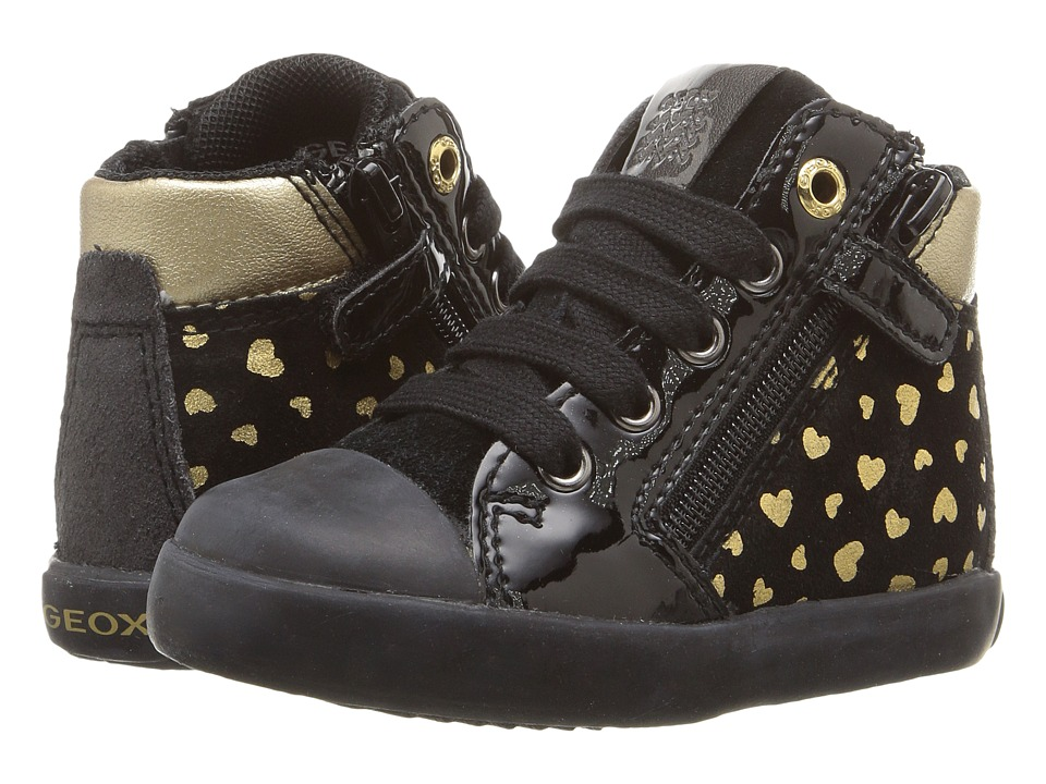 Geox Kids Baby Kiwi Girl 77 (Toddler) (Black/Gold) Girl