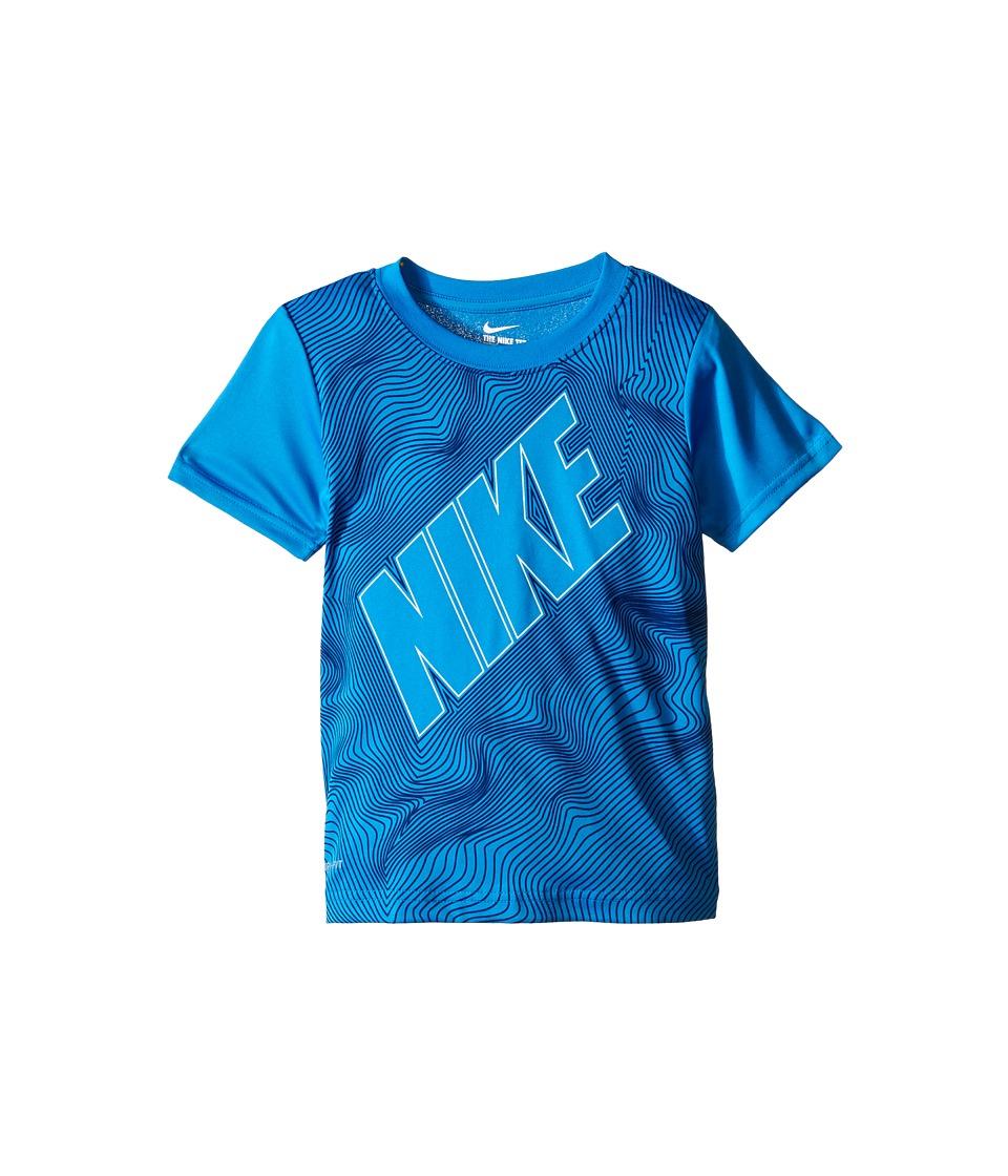 Nike Kids Contour Dri FIT Graphic Shirt Little Kids Photo Blue Boys Clothing