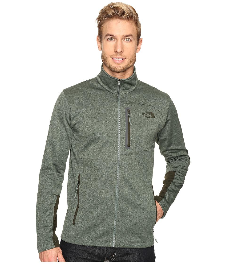 The North Face Canyonlands Full Zip Sweatshirt (Duck Green Heather) Men