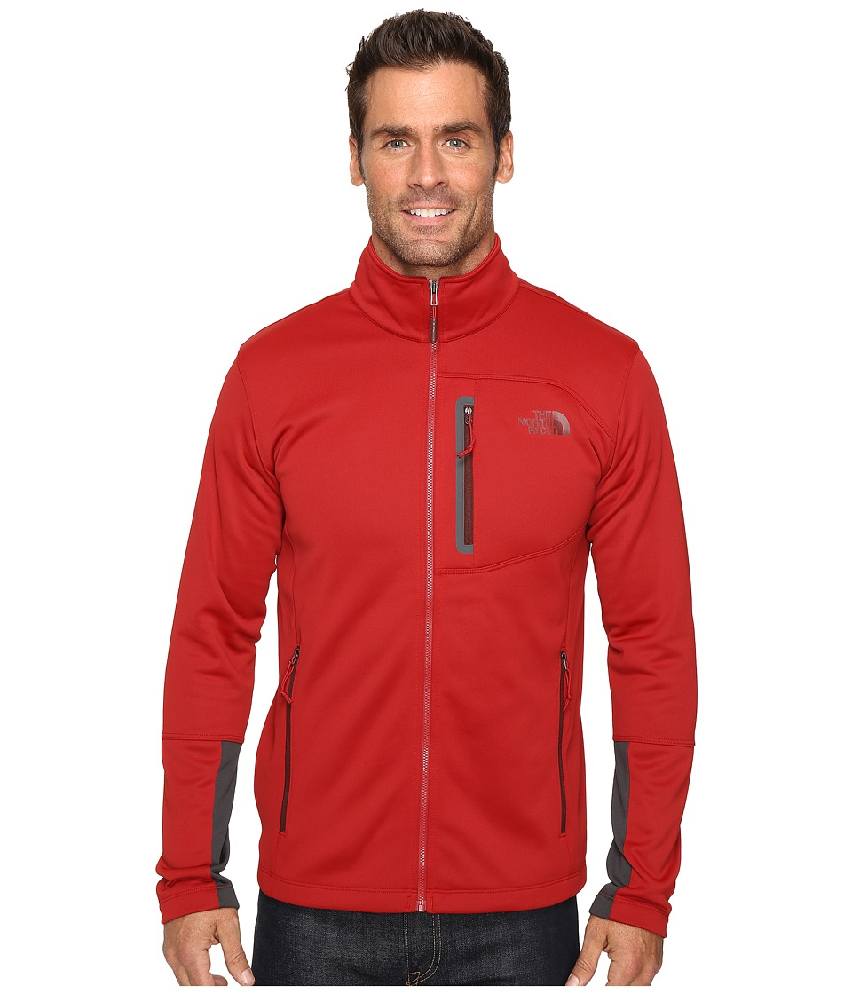 The North Face Canyonlands Full Zip Sweatshirt (Cardinal Red) Men