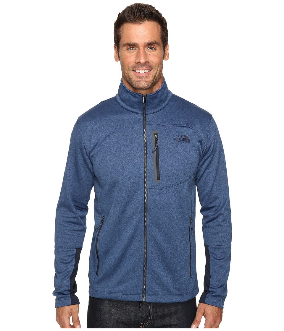 The North Face Canyonlands Full Zip Sweatshirt (Shady Blue Heather) Men