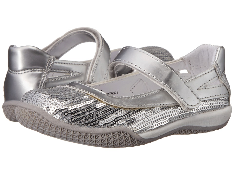 W6YZ Kathy Toddler/Little Kid Silver Girls Shoes