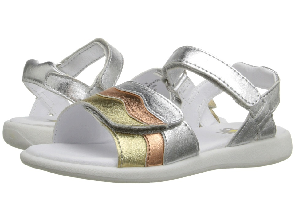 W6YZ Brenda Toddler/Little Kid Metallic Multi Girls Shoes