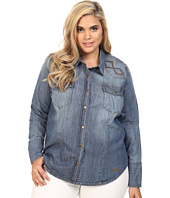 Stetson - Plus Size 6 OZ Denim Long Sleeve Woven Blouse