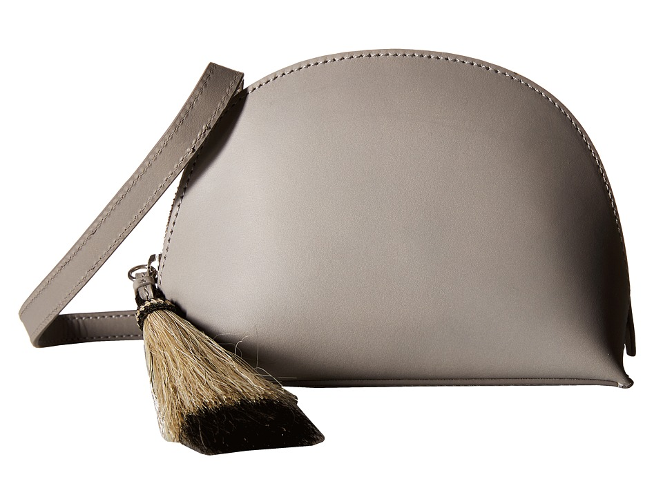 Loeffler Randall - Crossbody Pouch (Dove Grey/Natural Black) Cross Body Handbags